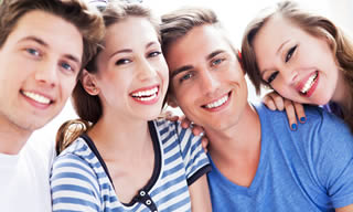 Young people with nice smiles